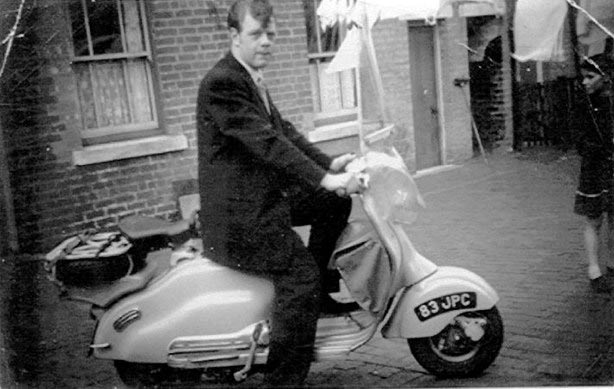 Brian on a Vespa Scooter