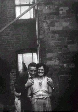Roly Morris Ex Villa Player, and his mother Margaret Morris, 25 Clarendon Street circa 1958