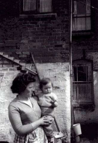 Mary Colin (nee Lewis) with daughter Jacqueline 27, Clarendon Street circa 1964