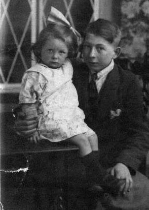 John William Genge 15 with his younger sister