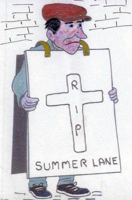 Drawing - The Summer Lane Man